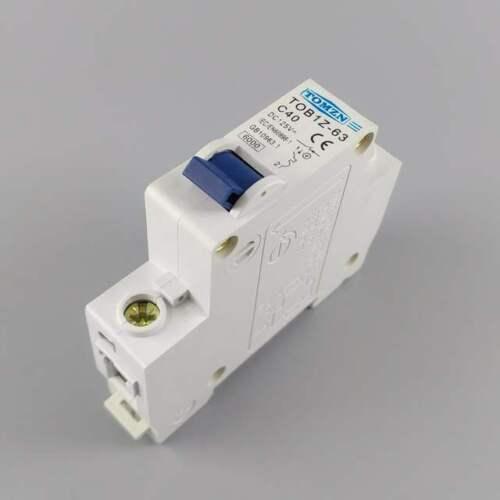 UK STOCK 40A 1P DC Circuit Breaker MCB Solar Fuse 125 TOB1Z-63 C40