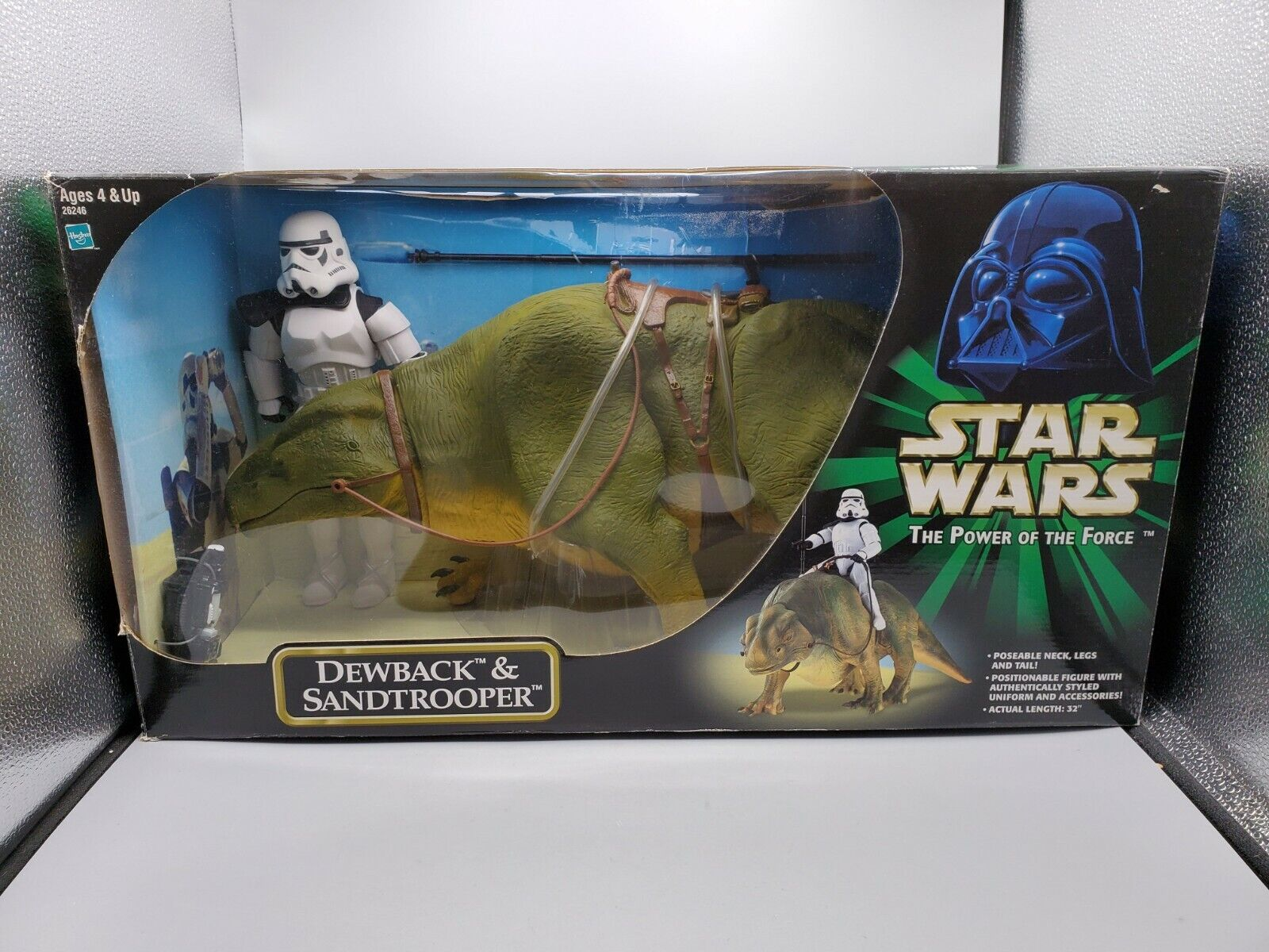 2000 Hasbro estrella guerras The energia of the Force gree Dewback & Setrooper 32 lungo