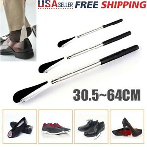 Adjustable-Metal-Shoe-Horn-Stainless-Steel-30-5cm-64cm-Long-Handled-Shoehorn