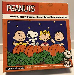 HALLOWEEN Linus GREAT Pumpkin PATCH Charlie SNOOPY 100 pc ...