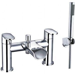 Enki Waterfall Bath Filler Mixer Tap Handheld Shower Designer