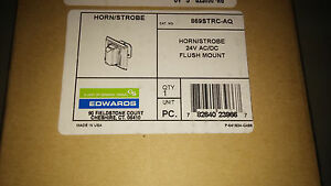 EDWARDS 869STRC-AQ NEW IN BOX HORN/STROBE 24V AC/DC SEE PICS #A79