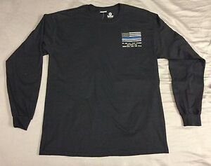 Custom police law enforcement thin blue line romans 13 4 for Thin long sleeve t shirts