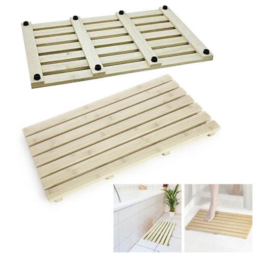 Luxury Rectangular Natural Wooden Anti Slip Bath Duck Board Bathroom Shower Mat