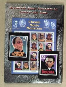 1997-CLASSIC-MOVIE-MONSTERS-Official-USPS-Horror-Movie-Stamps-Images-Postcards