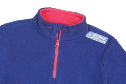 Girls Active Sportswear Half Zip Neck Fleece Jumper Fashion Top 9 to 14 Years