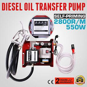 60l min pompe fuel ou gasoil carburant transfert oil pump lectrique pistolet ebay. Black Bedroom Furniture Sets. Home Design Ideas