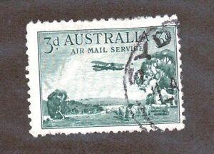 Australia Scott C1 - Airmail. 3 Pence. Used. #02 AUSC1