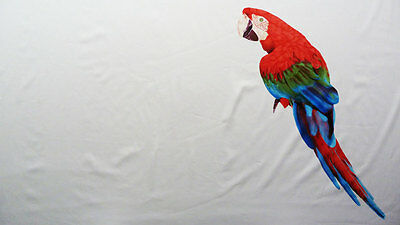 Large Parrot Cotton Sateen Panel Print Dress Fabric Material