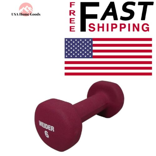Weider ® Neoprene Dumbbell 6 lb Weight Fitness Training Workout Home Gym