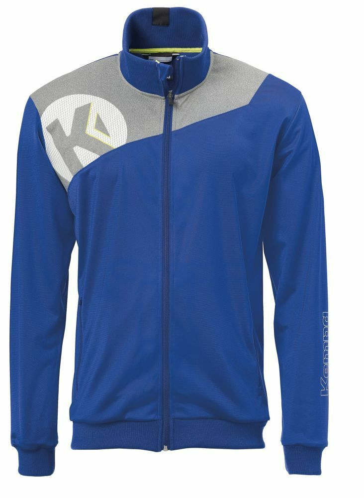 Kempa Handball Core 2.0 Poly Jacke Herren Trainingsjacke blau grau