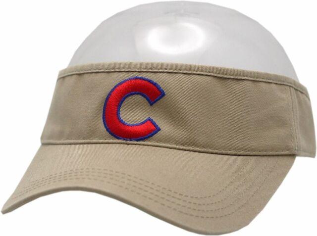Buy Chicago Cubs Visor Adjustable Strap Khaki Red C Logo 11686 ... f01cdebf973
