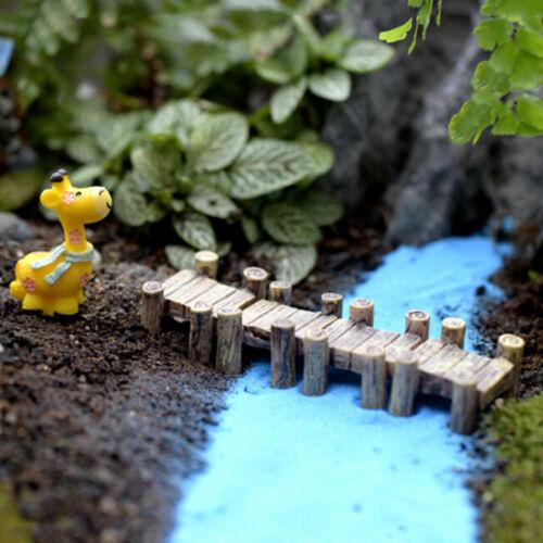 Mini Holzbrücke Mikro-Landschaft Harz Figur Fee Garten Zubehör