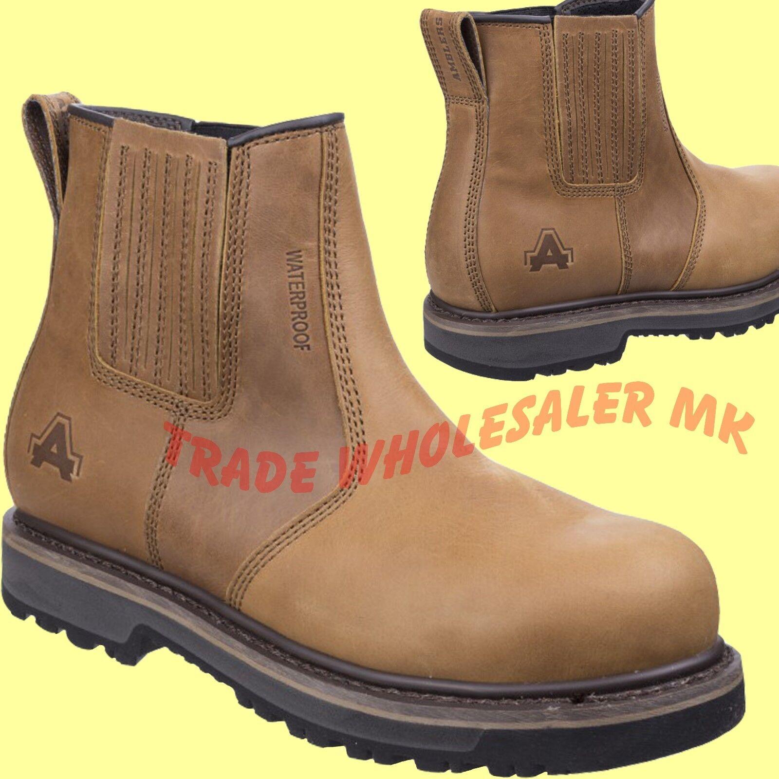 AMBLERS DEALER WORTON CHELSEA STEEL TOE CAP WORTON DEALER SAFETY WORK Stiefel BROWN AS232 90efd3