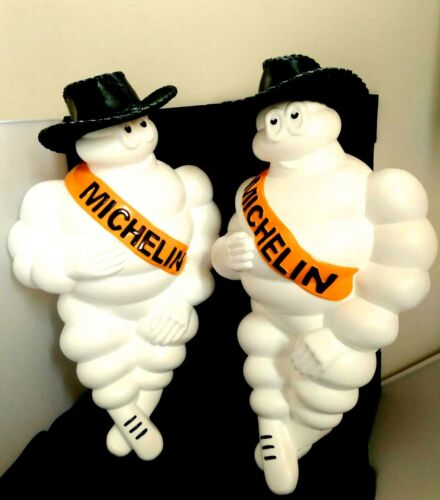 "LIMITED 2X17/"" HAT VINTAGE MICHELIN MAN DOLL FIGURE LIGHT BIBENDUM ADVERTISE TIRE"