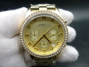 NEW-OLD-STOCK-MARC-BY-MARC-JACOBS-MBM3105-CHRONOGRAPH-QUARTZ-LADY-WOMEN-WATCH