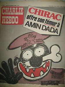 CHARLIE-HEBDO-N-420-CHIRAC-AMIN-DADA-DESSINS-SATIRIQUES-COUV-REISER-1978