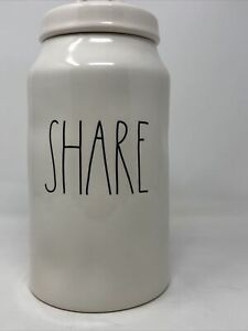 RAE-DUNN-by-Magenta-SHARE-Canister-Ceramic-LL-Large-NEW