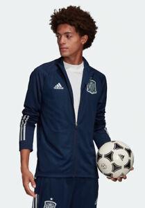 Spain Spanien Adidas Training Jacke Jacket Euro 2020 Herren Bench Version Blau