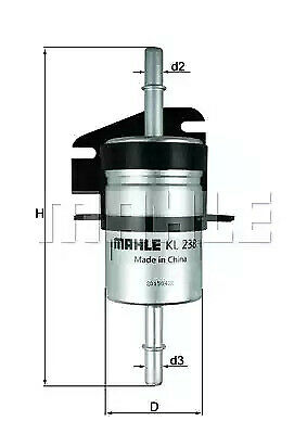 Filtre à Carburant Mahle Original KL238