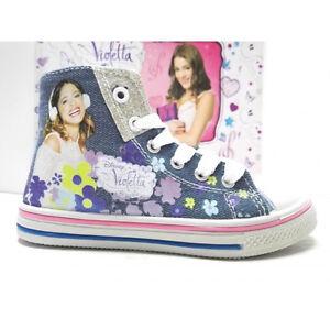 Disney Su Scarpa Bambina Modello Violetta Sportiva Dettagli Alta Converse Sneakers Jeans K1JlFc35Tu