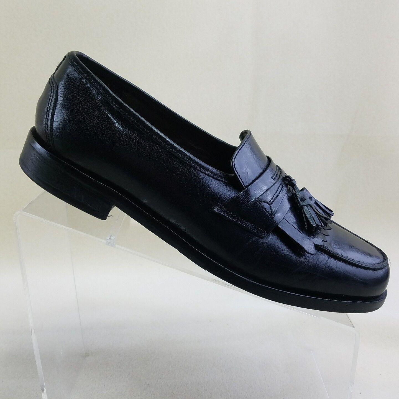 NUNN BUSH Dress Flex Black Men Kiltie Tassel Loafer Black Flex Leather Shoes Size 8.5M #G25 dc1c3c