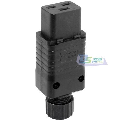 IEC 320 C19 Rewirable Socket IEC 320 C19 Female Power Cord Connector Adapter