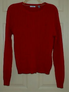 Classic Red IZOD Cable Sweater Top Size L Large | eBay