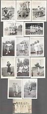 Lot of 14 Vintage 1940s Photos Pretty Teen Girls in Arms Lesbian Interest 763894