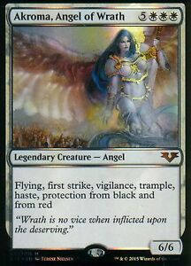Akroma-Angel-of-Wrath-FOIL-NM-From-the-Vault-Angels-Magic-MTG