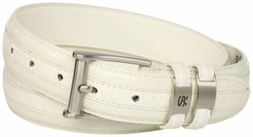 Stacy Adams Men/'s 32mm Genuine Leather Lizard Skin Print Belt With Buckle Cognac