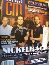 Canadian Musician Magazine Sept/Oct 2003 Nickelback Cover & Feature, Delerium