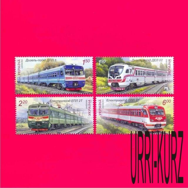 UKRAINE 2011 Technics Railway Railroad Transport Locomotives Trains 4v MNH