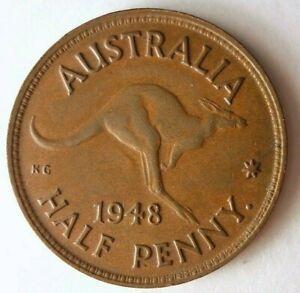 1948-P-Australia-1-2-Penny-Au-senza-Comune-Periodo-Premium-Vintage-Bin