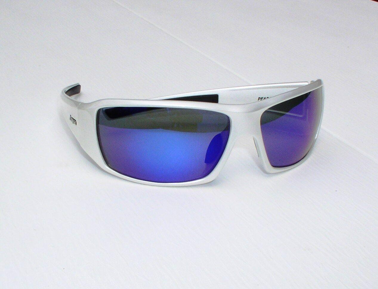 Aqua Polarisationsbrille PERCH in Pearl Weiß, Glasfarbe blau, Sonnenbrille