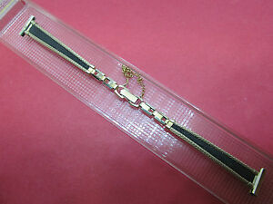 NEW-Ladies-Speidel-Vintage-10K-Yellow-Gold-Filled-Watch-Band-12-5mm-1-2-034