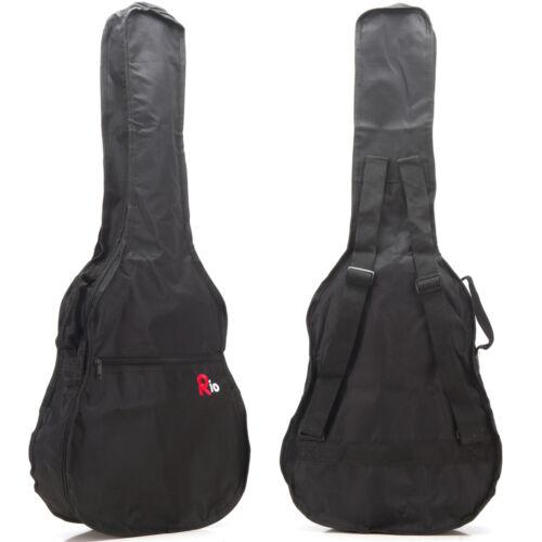 Rio 4//4 39/'/' Full Size Classical Acoustic Guitar Gig Bag Carry Case Gigbag New