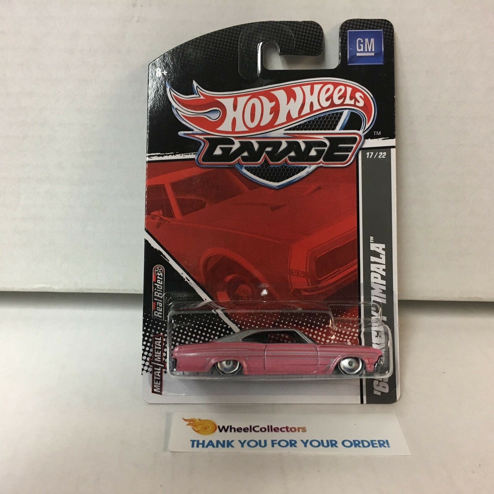 '65 Chevy Impala rose  hot wheels garage avec real riders  WG23