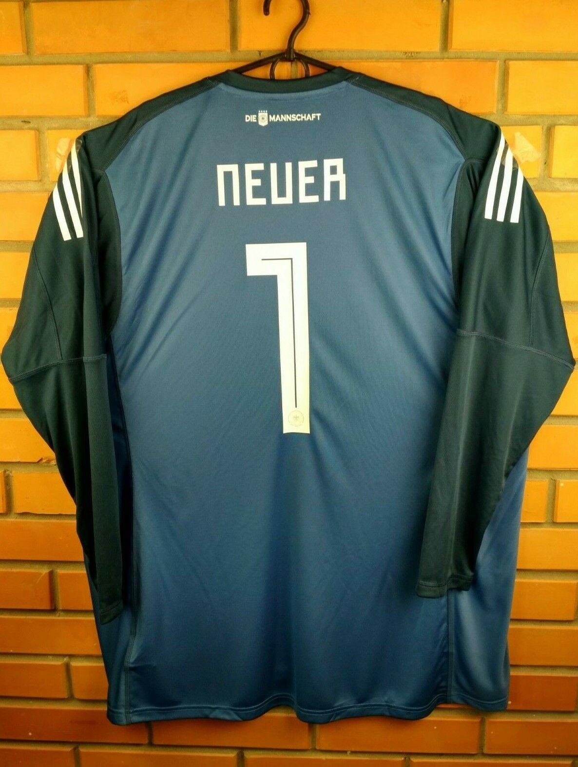 1010 Neuer Geruomoy soccer jersey XL 2018 goalkeeper shirt BR7831 Adidas