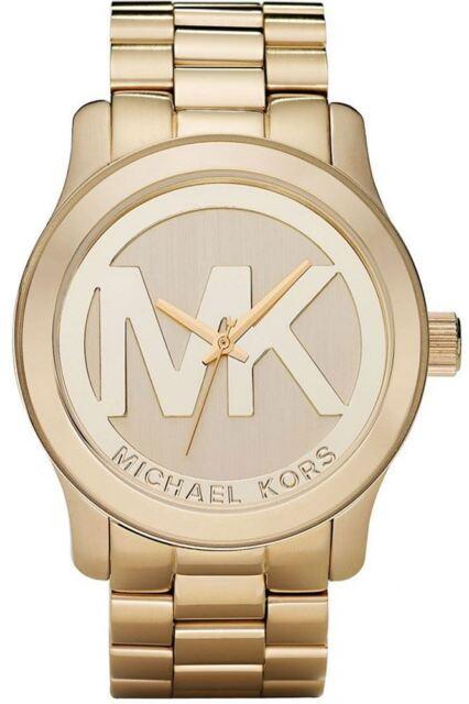e224590ad444 Michael Kors Ladies MK Logo Watch Gold Bracelet MK5473 for sale ...