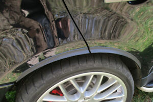 AUDI TT x2 Radlauf Verbreiterung Kotflügelverbreiterung Leisten CARBONOptik rear