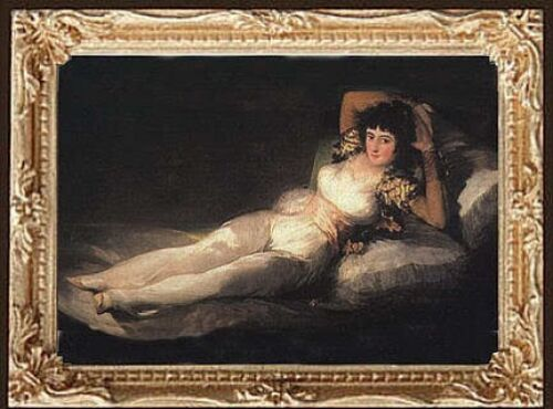 FAST DELIVERY GOYA PORTRAIT Dollhouse Picture Miniature Art MADE IN AMERICA