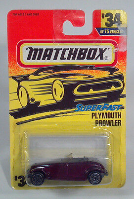 BC 1996 Matchbox MB 34 Plymouth Chrysler Prowler 1997 1999 2000 2001Scale Model3