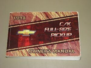1998-Chevrolet-C-K-FULL-SIZE-PICKUP-factory-issued-OWNER-039-S-MANUAL
