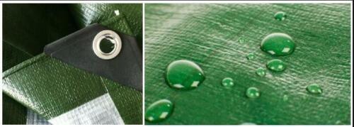 Tarpaulin Heavy Duty Waterproof Strong Cover Ground Sheet Tarp 130GSM 3x5 GREEN