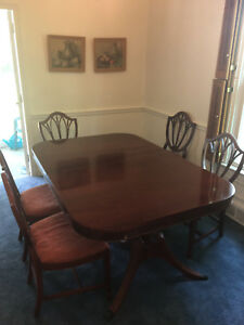 Incredible Details About Lovely Duncan Phyfe Style Dining Table Made By Thomasville With Leaf 6 Chairs Home Interior And Landscaping Ologienasavecom
