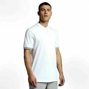 Men's Nike Golf Dry Pique Classic Polo Shirt White Size M-T Medium ...