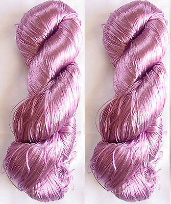 Knit Work Hat Embroidery Silk 2 Skeins Yarn Lace Fabric Scarf 230g Woven Thread