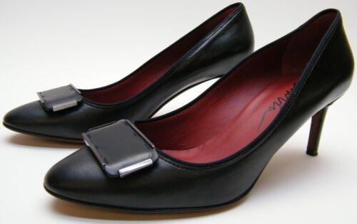 pour à femme cuir talons Lanvin Chaussures en noir 6gyfYb7v