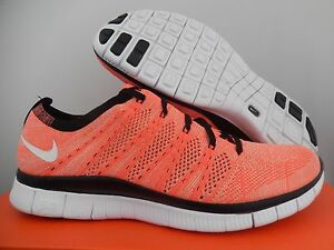 c594396a71a2 NIKE FREE FLYKNIT NSW HOT LAVA-WHITE-BLACK SZ 10  599459-800
